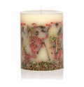 "Rosy Rings Red Currant & Cranberry 9"" Tall Big Round Botanical Candle"