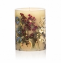 "Rosy Rings Roman Lavender 5"" Tall Round Botanical Candle"
