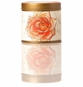 Rosy Rings Signature Tin Apricot Rose Candle