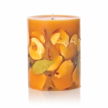 Rosy Rings Spicy Apple 5'' Tall Round Botanical Candle