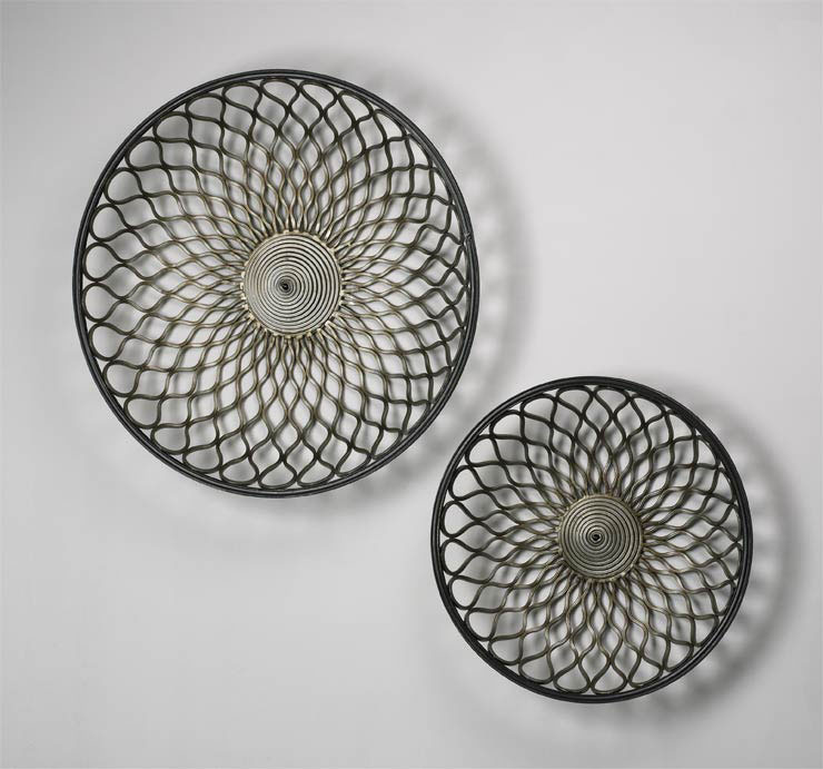 Round Gold Mesh Wall Art By Cyan Design