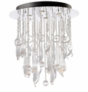 Round Mirabelle Clear Glass Pendant Light by Cyan Design