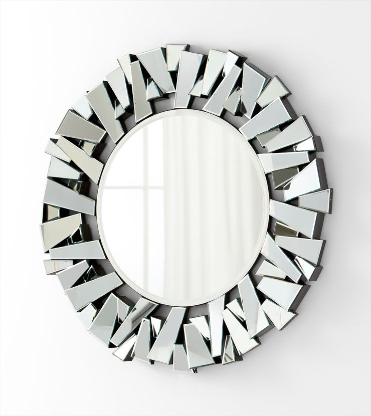 Round refractive border mirror by cyan design Round decorative wall mirrors