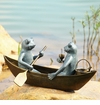 Rowboat Picnic Garden Sculpture by SPI Home