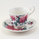 Roy Kirkham English Rose Cup & Saucer Set - Made in England