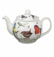 Roy Kirkham Garden Birds 6 Cup Round English Teapot