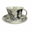 Roy Kirkham Jumbo Breakfast Cup & Saucer Set - Dogs at Home