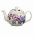 Roy Kirkham Pansy 6 Cup Round English Teapot