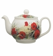 Roy Kirkham Poppy 6 Cup Round English Teapot