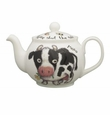 Roy Kirkham Shut the Gate Cow 6 Cup Round English Teapot
