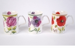Roy Kirkham Vivid Blooms Mugs - Set of Three
