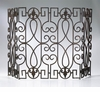 Rustic Wrought Iron Fireplace Screen by Cyan Design