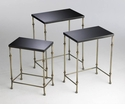 Sanders Iron and Granite Nesting Tables by Cyan Design