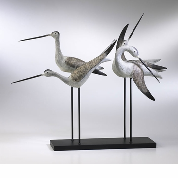Sandpiper Quartet Cast Iron Sculpture by Cyan Design