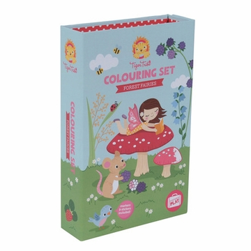 Schylling Forest Fairies Retro Coloring Set