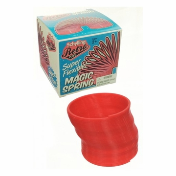 Schylling Retro Red Plastic Magic Spring, Walks Stairs!