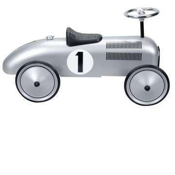 Schylling Speedster Silver Race Car Riding Toy