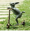 Scooter Bunny Garden Sculpture by SPI Home