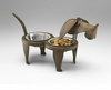 Sculptured Metal Pet Feeder by Cyan Design