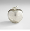 Silver Glass Apple Sculpture by Cyan Design