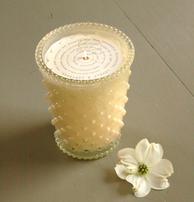 Simpatico Home 16 Ounce Hobnail Glass Candle - White ...