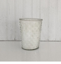 Simpatico Hobnail Glass Candle - Snow
