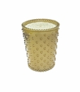 Simpatico Home Sea Salt Caramel Hobnail Glass Candle 16Oz