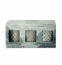 Simpatico Home Skye 3Pc Hobnail Votive Set