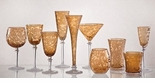 Skyros Designs Lauren Collection Glass Compote - Amber
