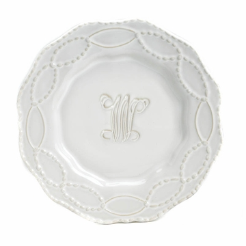 Skyros Designs Legado Salad Plate Engraved (Select Your Initial)