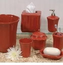 Skyros Designs Royale Bath Waste Basket - Paprika