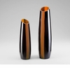 Small Ader Modern Amber Glass Vase by Cyan Design (Each Vase is Sold Separately)