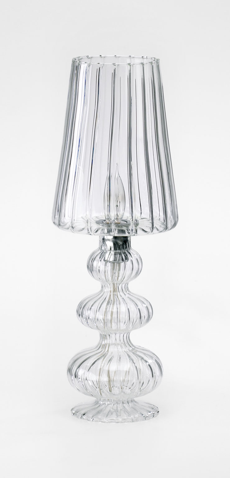 small all glass table lamp by cyan design
