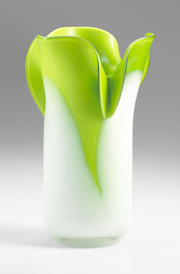 small andre green glass vase by cyan design. Black Bedroom Furniture Sets. Home Design Ideas