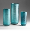 Small Aqua Glass Vase by Cyan Design