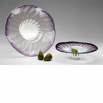 Small Art Glass Bowl Purple by Cyan Design