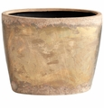 Small Ceramic Bronze Planter by Cyan Design