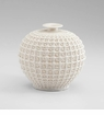 Small Diana Intricate White Ceramic Vase by Cyan Design