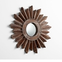 Small Excalibur Walnut Mirror by Cyan Design