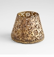 Small Filigree Antiqued Gold Container by Cyan Design