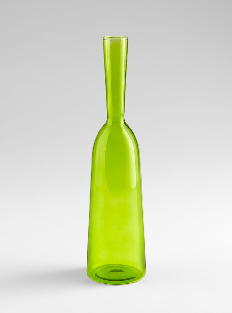 small green glass carafe vase by cyan design. Black Bedroom Furniture Sets. Home Design Ideas