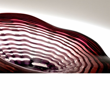 Small Imperial Purple Art Glass Plate by Cyan Design (Medium and Large Plates Sold Separately)