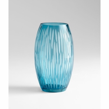 Small Klein Blue Glass Vase by Cyan Design
