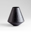 Small Lava Black Glass Vase by Cyan Design