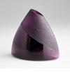 Small Mount Amethyst Vase by Cyan Design