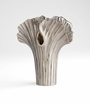 Small Nickel Alloy Palm Vase by Cyan Design