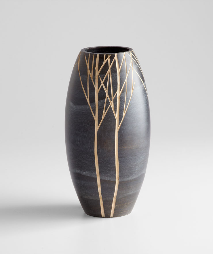 Small Onyx Wood Vase by Cyan Design