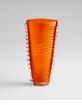 Small Orange Clear Dollie Glass Vase by Cyan Design