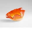 Small Orange Glass Party Bowl by Cyan Design