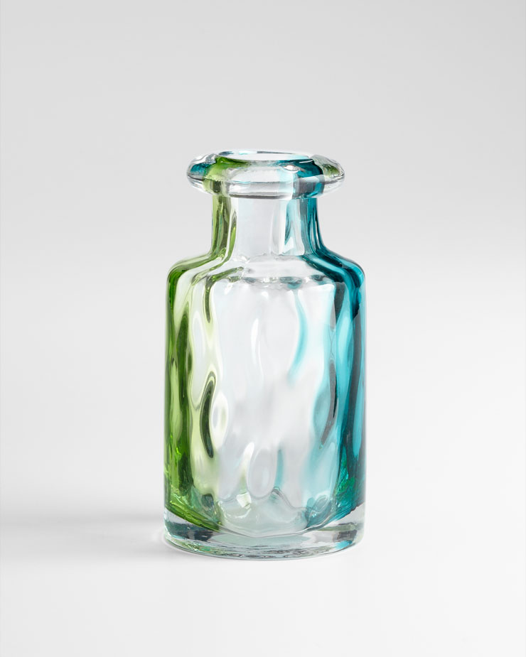 small rigby green glass vase by cyan design. Black Bedroom Furniture Sets. Home Design Ideas